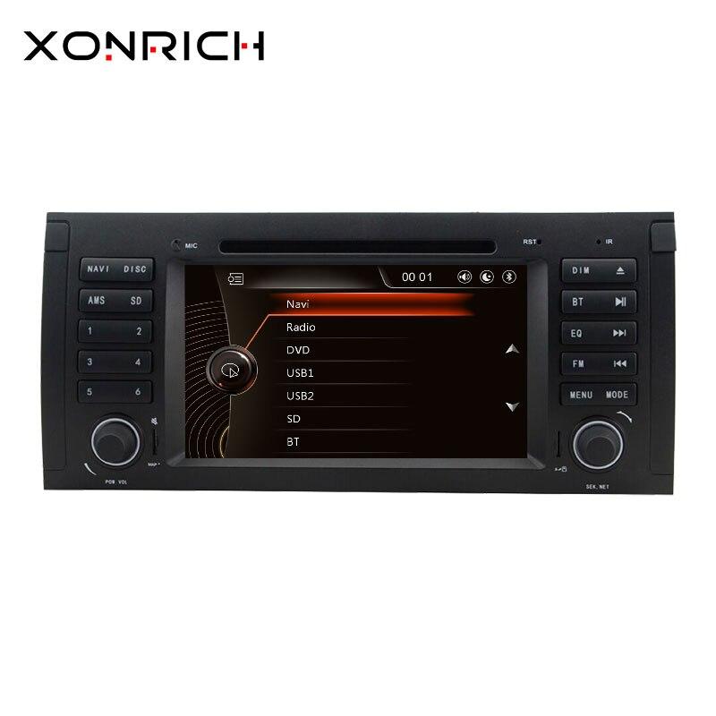 1 Din Voiture Lecteur DVD AutoRadio Pour BMW X5 E53 BMW E39 M5 2002-2004 2007 Fonctionnelles de Multimeida Audio GPS navigation Magnétophone Unité de Tête