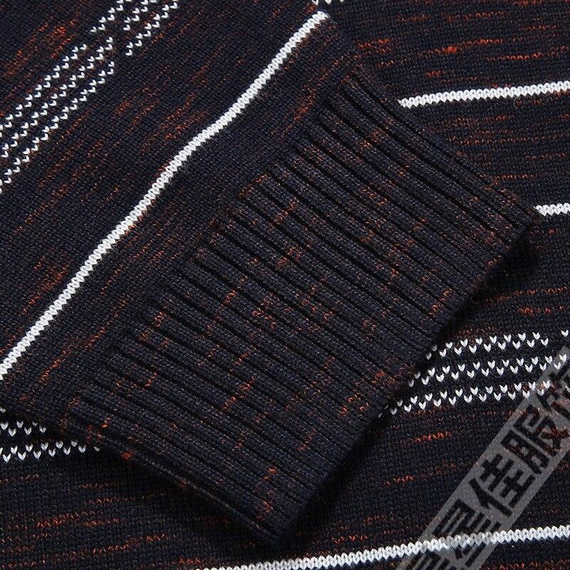 Плюс 8XL 6XL 5XL новый осенний модный мужской пуловер Свитера с длинным рукавом v образным вырезом полосатый вязаный кашемировый Рождественский свитер для мужчин - 5