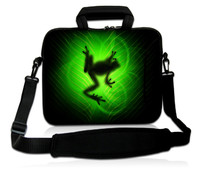 13 Green Frog Laptop Bag Carry Case Cover Pouch W Pocket Shoulder Strap Fit 12 5