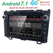 Android 7.1 HD 1024*600 Car DVD Player Radio For Honda CRV 2007-2011 4G WIFI GPS Navigation Head Unit 2 din 1GRAM SWC DVB-T DAB+