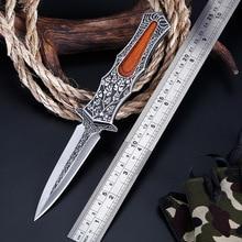Tactical High Hardness Wild Survival Folding Knife Gift CS GO Stainless Steel Pocket EDC
