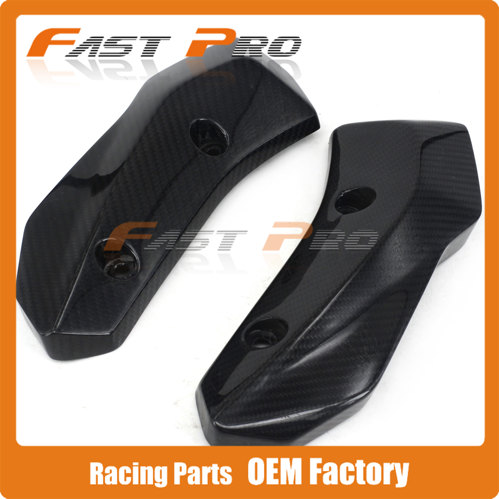 Motorcycle Carbon Fiber Guard Water Tank Radiator Side Guard Protector For YAMAHA MT07 FZ07 MT-07 FZ-07 2014 2015 2016 2017 chain guard for yamaha r1 2015 full carbon fiber 100