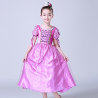 3 10 T Children Girl Dreses High Quality Crystal Embellished Neck Princess Costume Girls Rapunzel Party