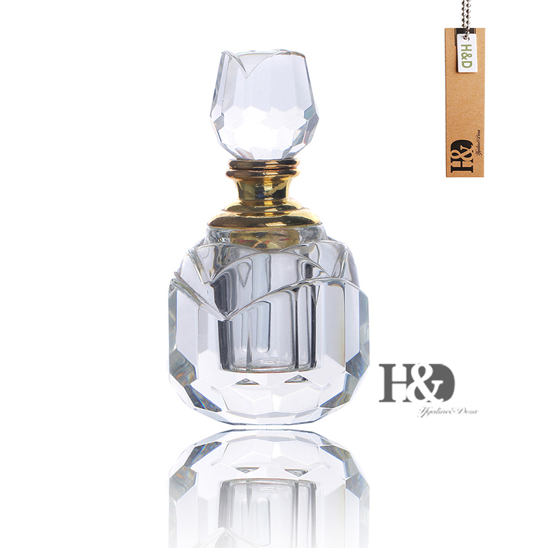 Mini 3ML Clear Rose Stopper Crystal Empty Perfume Bottle Wedding Decor Gift Refillable Perfume Container Women's Fashion ifolaina customized image crystal wine bottle stopper personalized logo crystal ball bottle stopper
