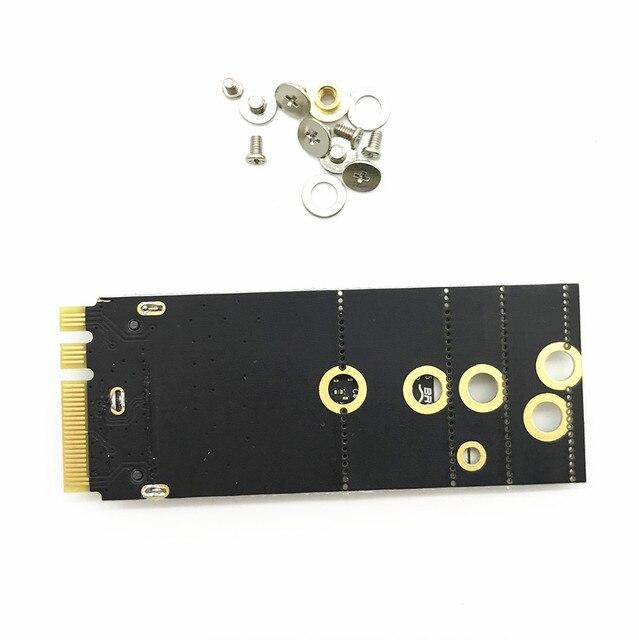 802.11AC BCM94360CS2 Airport WiFi 867Mbps WLAN Card Bluetooth 4.0+NGFF M.2 Adapter+Antennas