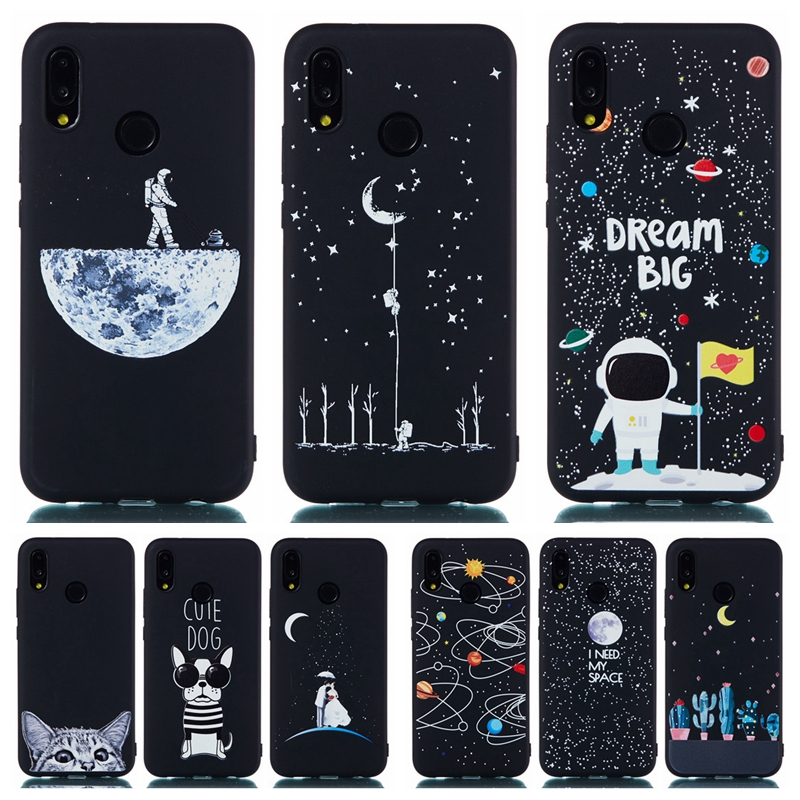 Huawei P20 Lite Astronaut Case On For Coque Huawei P20 Lite Case P 20 Pro P20Lite P20Pro Capa Space Moon Planet Soft TPU Cover