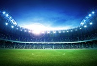 VinylBDS 10x20ft Stadium Background For Photography Light Seat Photo Shoot Background Football Field Photographer Backdrop