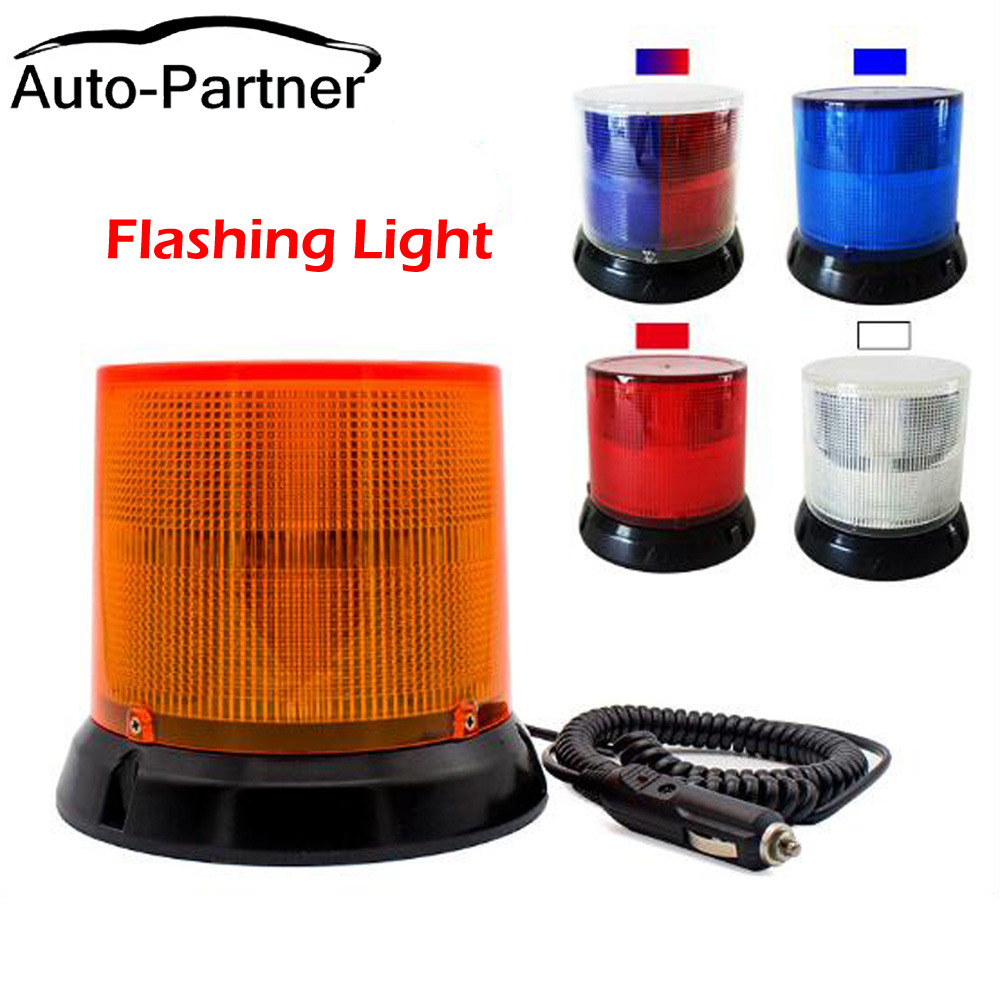 DC 12V 36V Flashing Car LED Cargo Truck Carrying a Circular Signal Magnetic Ceiling Warning Police Lights Multiple mode Strobe