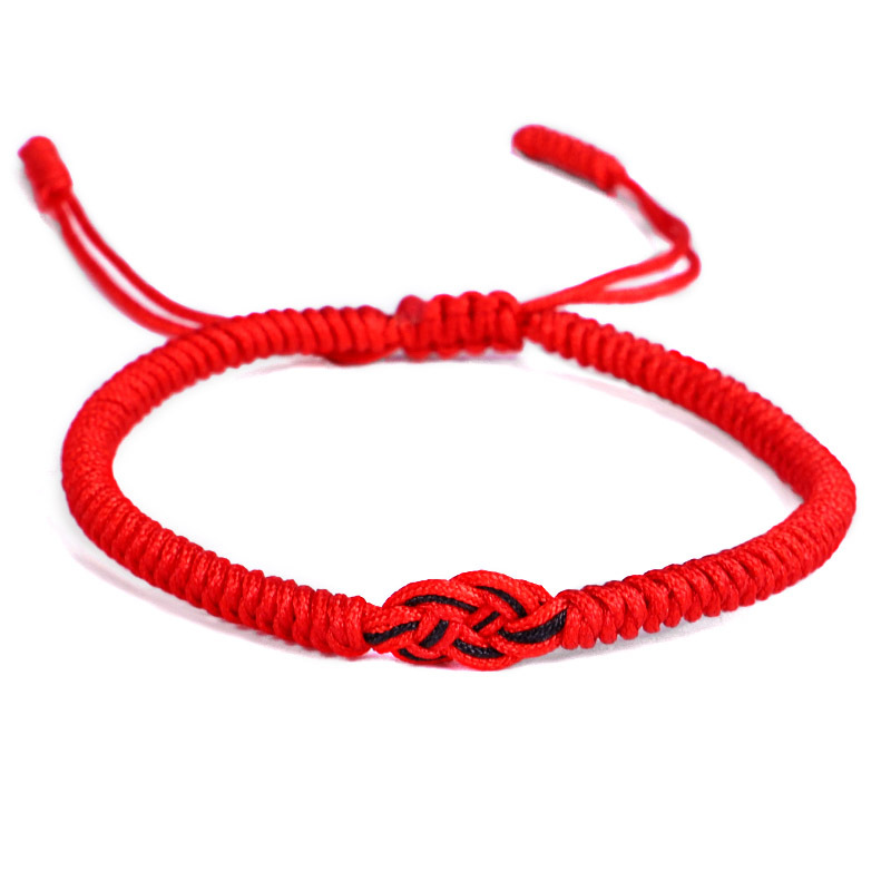 Romantic Red Black Rope Knot Bracelet For Couple Adjustable hand Jewelry Valentine 39 s Day Gift DropShipping in Charm Bracelets from Jewelry amp Accessories