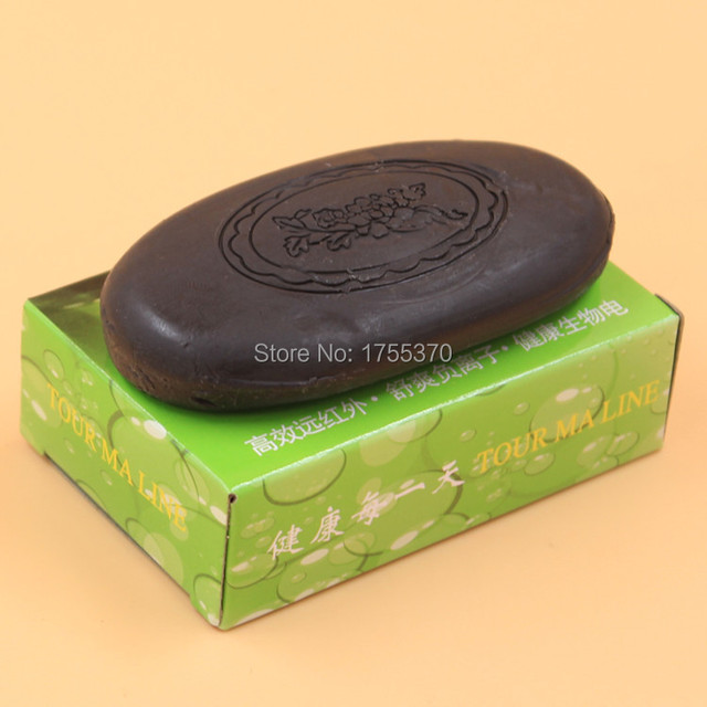 Newest 2Pcs/lot Active Energy Bamboo Tourmaline Soap for lady female women Face Hand Body Healthy Care 5