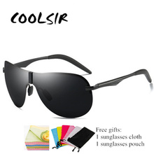 Brand Design Mens Polarized Sunglasses Outdoor Driving Mirror Men Goggle Driver