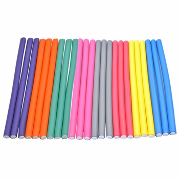 10pcs Flexible Hair Curling Rod Hair Curler Makers Soft Foam Bendy Twist Curls Flexi DIY Rollers Styling tools