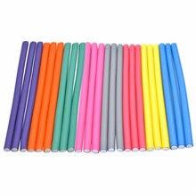 Vara de ondulação de cabelo flexível, fabricantes de cachos de espuma macia, cachos flexíveis, ferramentas de modelagem diy, com 10 peças