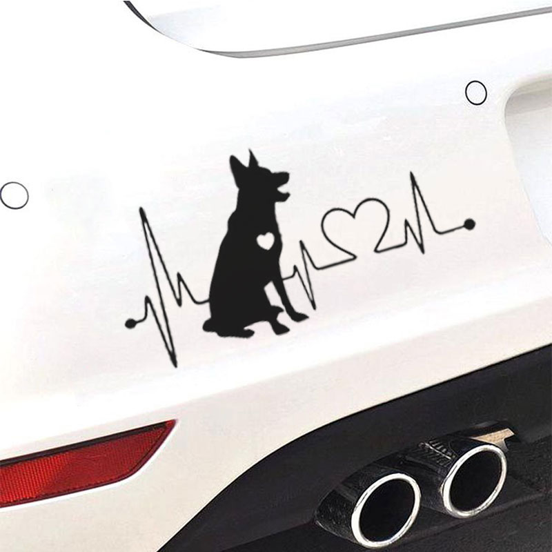 Funny German Shepherd car stickers for car styling wrap decoration wrap decoration products for automotive stickers Laptop decal