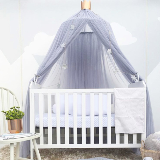 Baby Princess Dome Bed Canopy Children Netting Curtains Tent Bed Canopy Bedding with Round Lace Mosquito & Baby Princess Dome Bed Canopy Children Netting Curtains Tent Bed ...