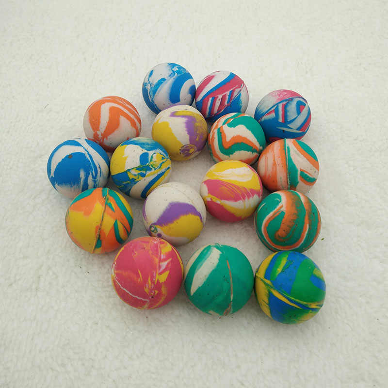 10pcs Children Toy Ball Colored Bouncing Ball Rubber Outdoor Toys Kids Sport Games Elastic printing Juggling Jumping Balls