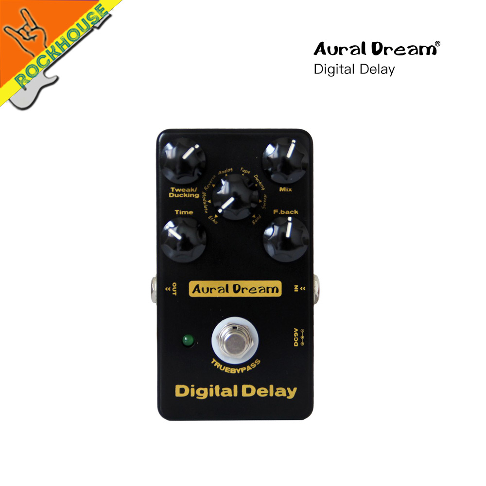 AuralDream Digital Delay Guitar Effects Pedal Echo Delay Guitarra Pedal Stompbox 8 modes delay Models True Bypass free shipping new pegasus overdrive pedal guitar effects pedal high power drive booster tube overload stompbox true bypass free shipping
