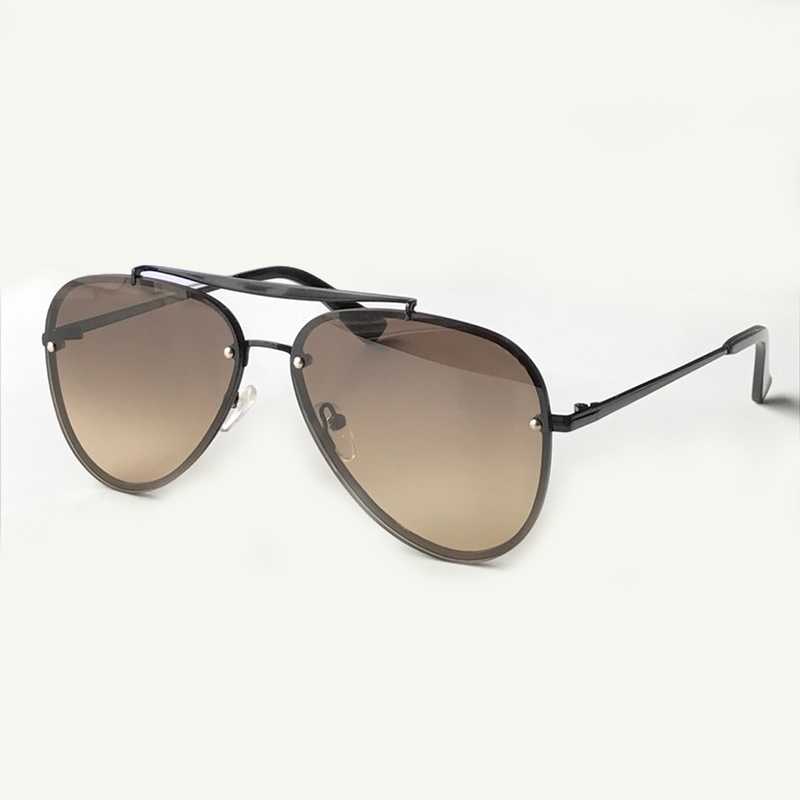 2019 New Fashion Double Bridge Sunglasses for Women Brand Designer High Quality Alloy frame UV400 Mirror Coating Lens Eyewear