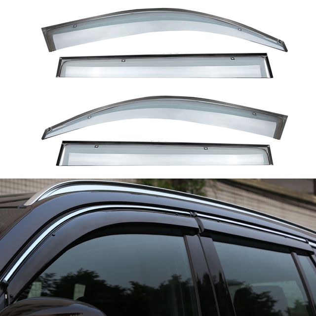 4pcs/lot Car Styling Vent Shade Sun Rain Guard Cover Window Visor For BMW X5 2012 2013 2014 2015 Accessories High Quality