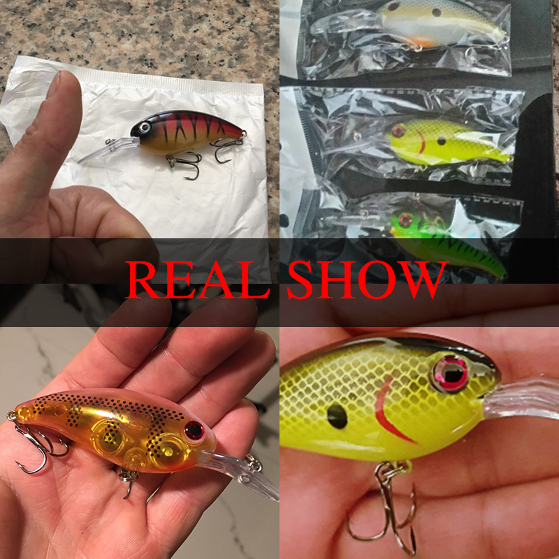 11cm//14g fishing lure artificial crank bait floating wobbler with two hooks KQ