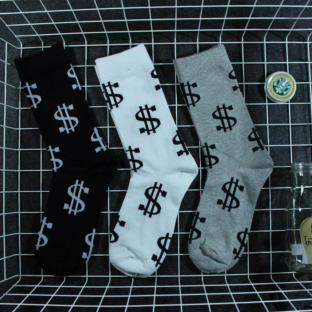 0d65aa1522d7 Old School Casual Luxury America U.S. Dollar Money Socks Skateboard ...