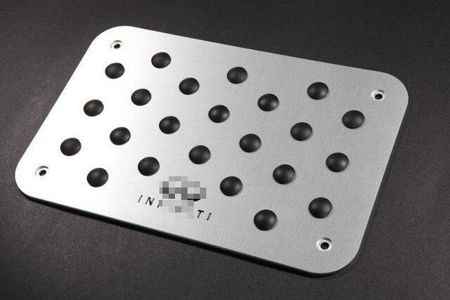 Car accessories For Infiniti Q50/50L Q60 Q70L XF Universal Floor Carpet Mats Pedal Pads Footrest Plate Pad Cover styling sticker