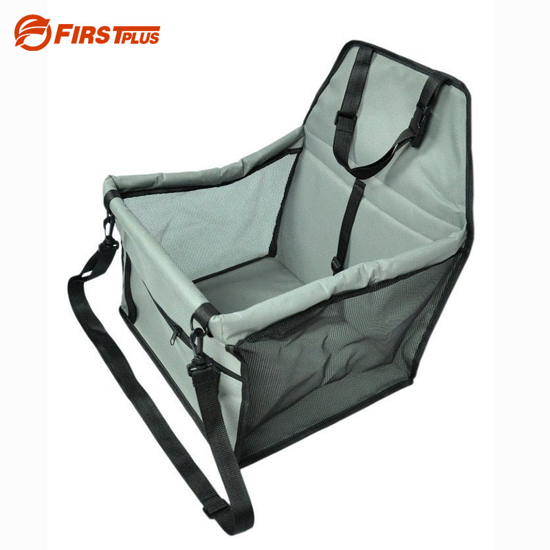 Waterproof Pet Dog Car Booster Seat Thick Carrier Large Small Dogs Car Basket Seats Cover Bed With Safety Leash Storage Pocket pet dog carrier car seat pad safe carry house cat puppy bag car travel accessories waterproof dog seat bag basket pet products