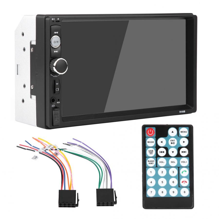 Mirror Multimedia-Player Rearview-Camera Car-Radio Remote-Control Usb Aux Bluetooth Double-Din