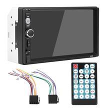 7 дюймов автомобиля радио зеркало HD двойной Дин Bluetooth MP5 плеер FM Радио USB AUX дистанционного Управление зеркало заднего вида Камера мультимедийный плеер