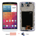 For LG G3 D855 D850 LCD Display Touch Screen with Digitizer Bezel frame Full Assembly Adhesive Tape Free Tools