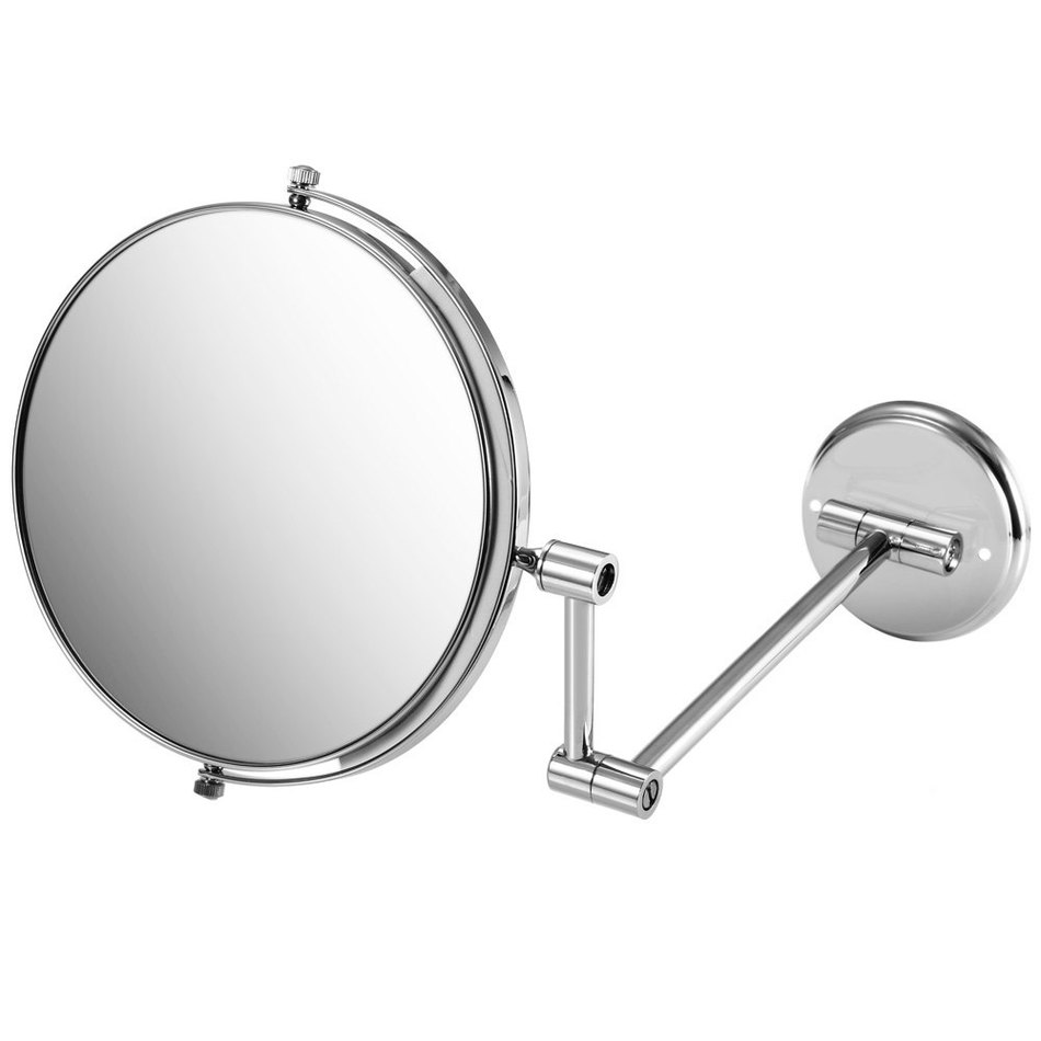 Folding bathroom mirror - 2016 8 Double Side Folding Wall Mounted Makeup Shave Vanity Mirror Round Wall Mirror With Frame