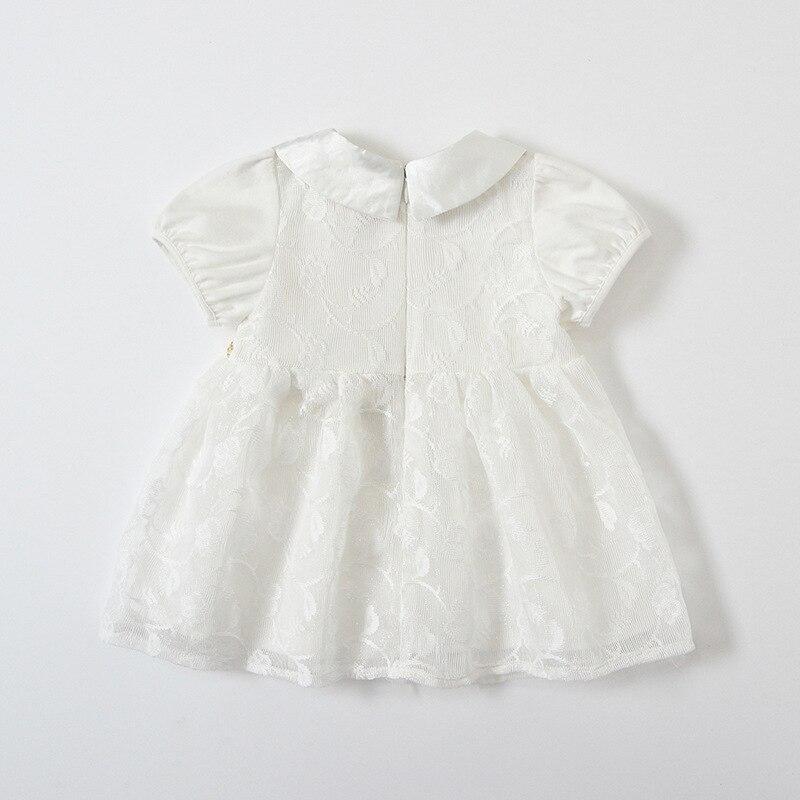 Image 4 - Baby Girls Dresses Summer Peter Pan Collar Girls Heart Sequins Lace Kids Dress Childrens Wear 0 4YDresses   -