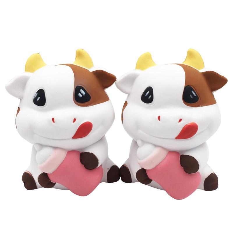 Jumbo Cartoon Milk Cow Doll Squishy Slow Rising Bag Cell