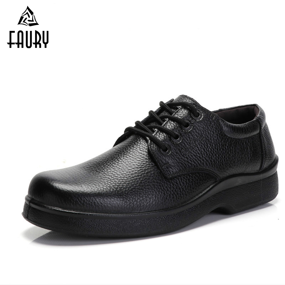 Chef Shoes Genuine Leather Waterproof Non-slip Wear-resistant Food Service Chef Kitchen Hotel Work Shoes Cooking Footwear