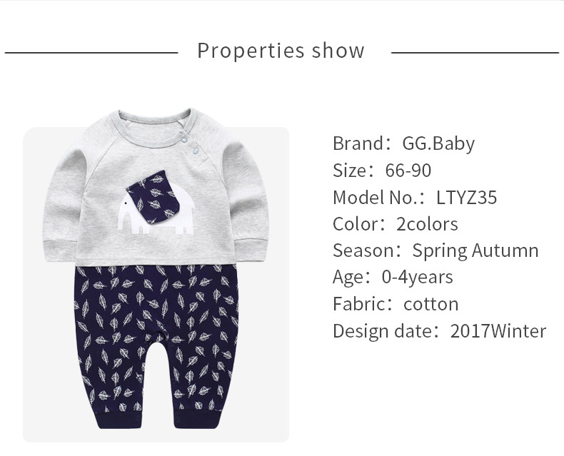 b330f2d58e5 Detail Feedback Questions about Elephant Newborn Baby Pajamas Girl ...