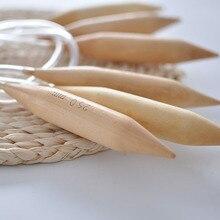 25 мм Крючки Круглые Бамбук Толщиной Спицы Двухместный Указал Пряжа Швейные Инструменты Вязание Аксессуары Иглы Вязать