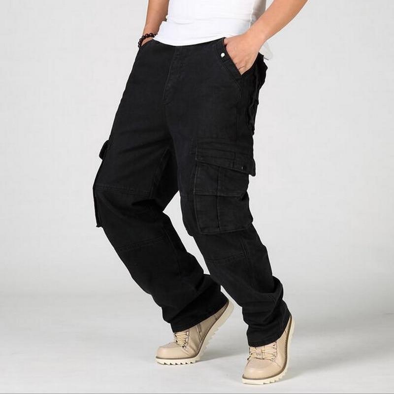VXO 2019 brand jeans Black Baggy Jeans Men multi pocket ...