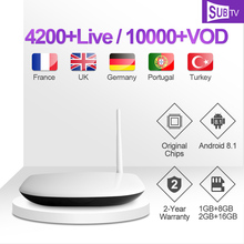 Leadcool Q1304 IP TV Box SUBTV Arabic French IPTV Subcription 4K H.265 RK3229 TV Box Android Swedish Portuguese IPTV 1 Year Code цена в Москве и Питере