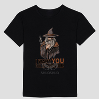 Lord Of The Rings Gandalf DIY Men S Short Sleeve T Shirt Cotton Round Collar White