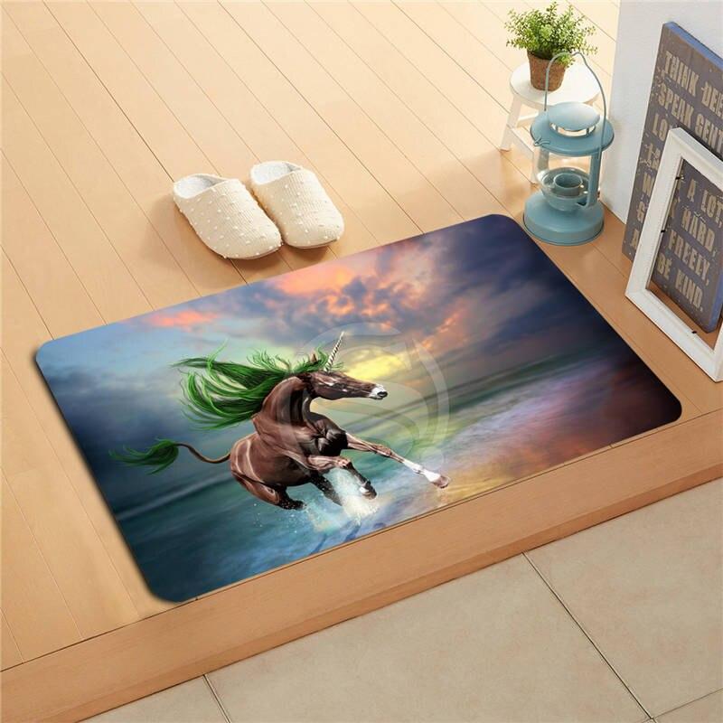 v&1 Custom animal horse sunset Doormat Home Decor Door mat Floor Mat Bath Mats foot pad L7.11#1