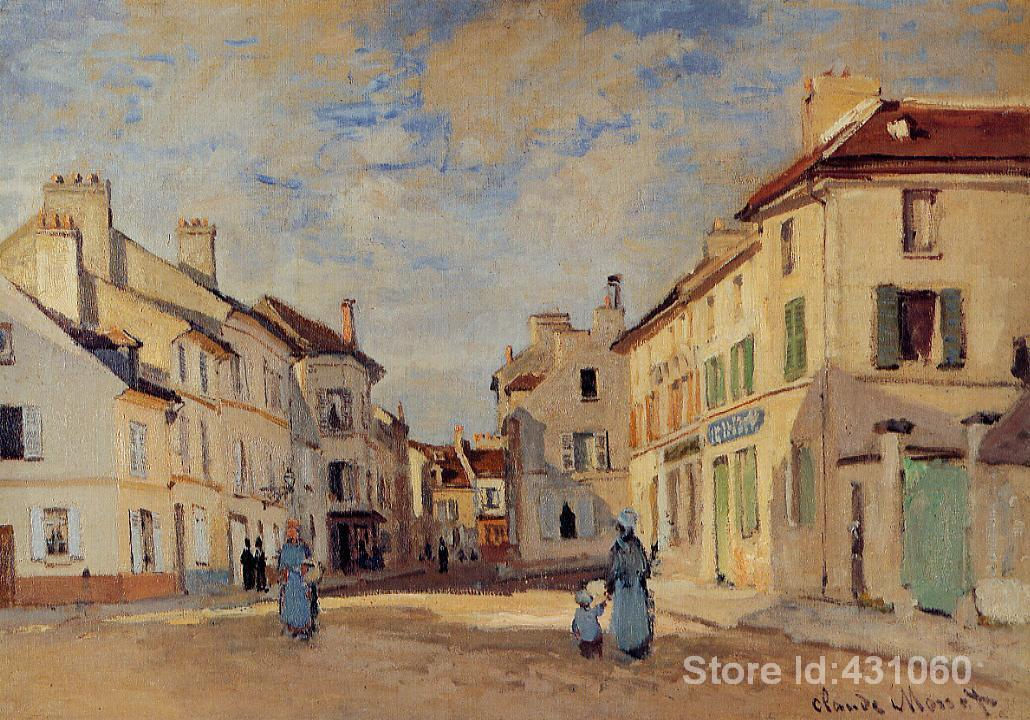 Famous Claude Monet s Paintings The Old Rue de la Chaussee Argenteuil Art  Gallery for bedroom High. Compare Prices on Famous Painting Gallery  Online Shopping Buy Low