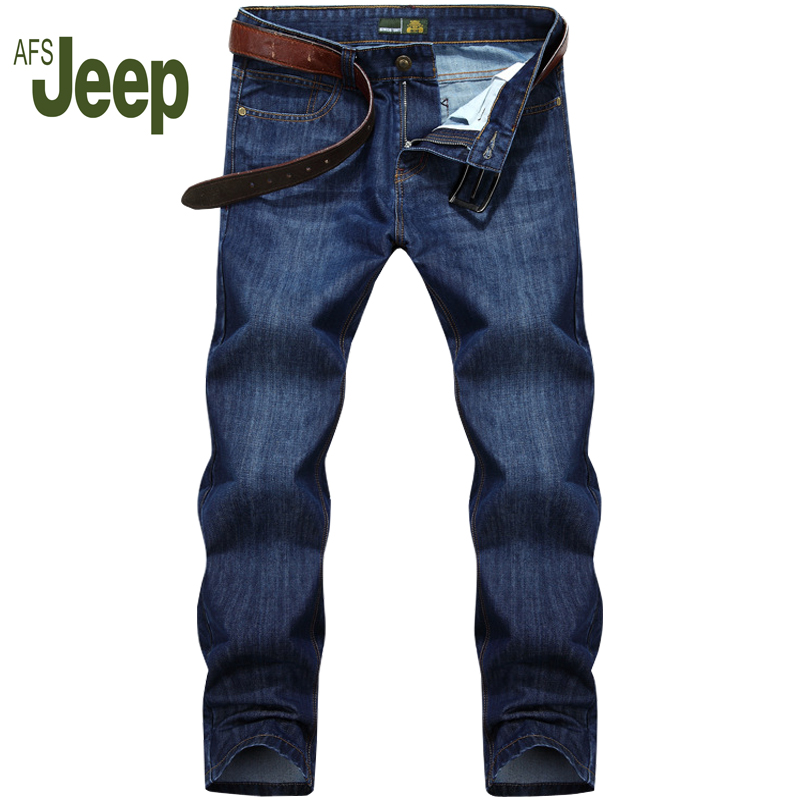Brand Jeans Male Spring And Autumn Section Straight In The Waist Youth Men's Jeans Casual Slim Men Trousers AFS JEEP 78