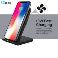 Dcae 10 Вт Беспроводной Зарядное устройство для samsung Galaxy S9 S8 примечание 9 8 Ци Беспроводной зарядная станция для iPhone X XS Max 8 плюс USB XR Зарядное устр...