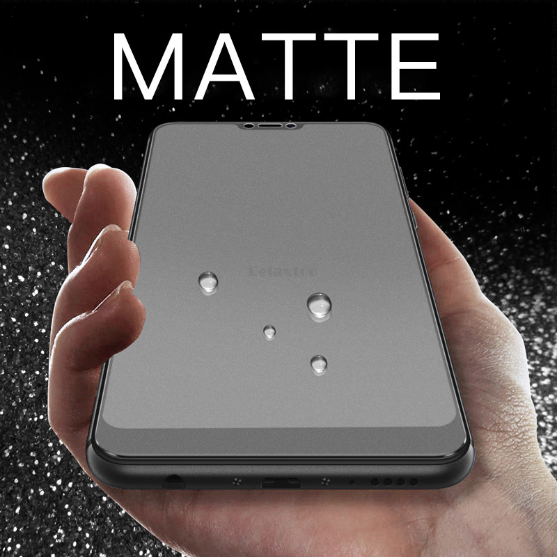 Frosted Matte Screen Protector Tempered Glass for Samsung Galaxy A9 A6 A8 Plus 9