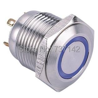 ELEWIND 16mm shorter Ring illuminated switch With power symbol PM161F 10E J B 2 8V S