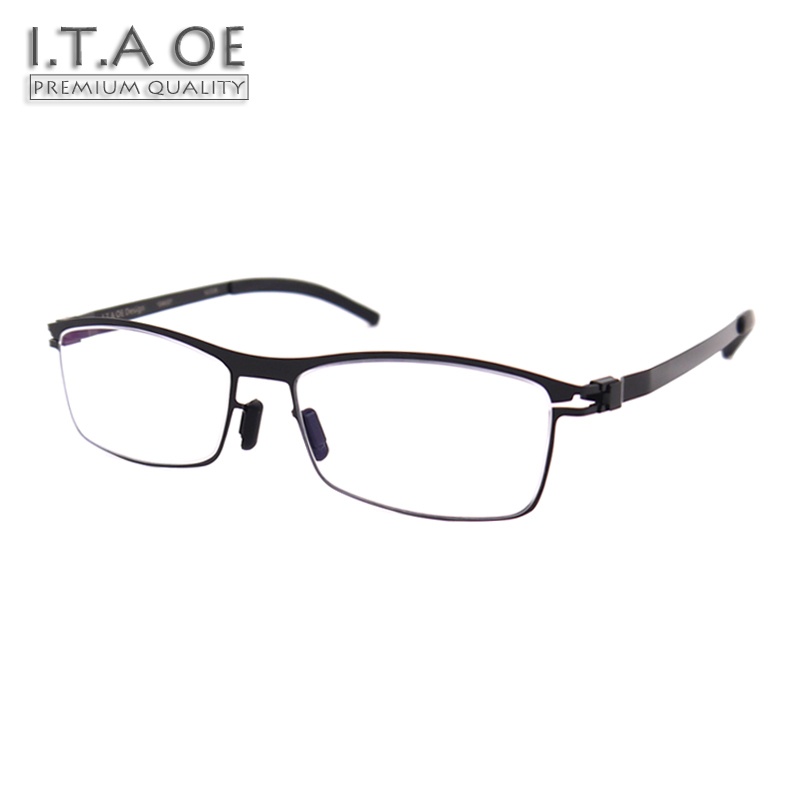 ITAOE Model David No Screws Screwless Stainless Steel Men Optical Prescription Glasses Eyewear Frames Spectacles 132mm itaoe model 404 high quality acetate men optical prescription glasses eyewear frames spectacles 141mm