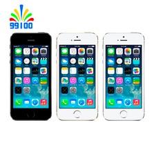 """Б/у Apple Iphone 5S разблокированный сотовый телефон 4,"""" экран 1 Гб ОЗУ 16 Гб/32 ГБ/64 Гб ПЗУ сенсорный ID отпечаток пальца"""