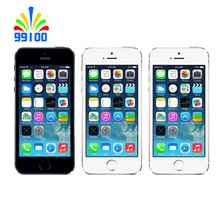 "Apple Iphone 5 S Sbloccato Telefono Cellulare 4.0 ""Apple A7/M7 CPU iOS 1 GB RAM 16 GB/32 GB/64 GB ROM Tocco ID Impronte Digitali(China)"
