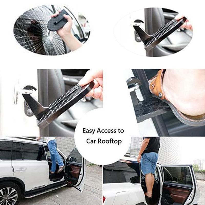 Multifunction Foldable Car Doorstep Latch Hook Anti-slip Mini Foot Pedal Ladder For Jeep Suv Truck Roof Car Rooftop Pedal Back To Search Resultsfurniture