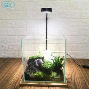 Image 1 - 5W USB Cổ Ngỗng Led Vật Có Phong Cảnh Đèn Đen Bạc Đèn LED Bể Cá Ánh Sáng 6000K Thủy Sinh Vật Có Đèn Sinh Thái chai Đèn